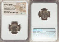 Augustus (27 BC-AD 14). AR denarius (21mm, 3.57 gm, 5h). NGC Choice VF 4/5 - 3/5. Spain (Colonia Patricia?), 19-18 BC. CAESARI-AVGVSTO, laureate head ...