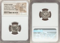 Augustus (27 BC-AD 14). AR denarius (20mm, 3.70 gm, 6h). NGC VF 4/5 - 3/5, lt. scratches. Uncertain mint in Spain, AD 19-18. CAESAR-AVGVSTVS, bare hea...
