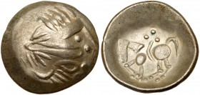 "Eastern Europe, Imitating Philip II of Macedonian. Silver ""Tetradrachm"" (7.08 g), 2nd-1st centuries BC. MS"