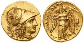 Macedonian Kingdom. Alexander III 'the Great'. Gold Stater (8.58 g), 336-323 BC. VF