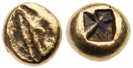 Ionia, Uncertain mint. Electrum 1/24 Stater (0.75 g), 6th Century BC. EF