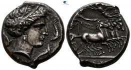Sicily. Lilybaion (as 'Cape of Melkart') circa 330-305 BC. Punic issues. Tetradrachm AR
