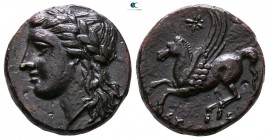 Sicily. Syracuse. Agathokles 317-289 BC. Or time of Timoleon and the Third Democracy, circa 345-317 BC. Bronze Æ