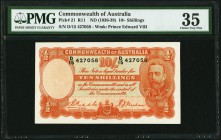 Australia Commonwealth Bank of Australia 10 Shillings ND (1936-39) Pick 21 R11 PMG Choice Very Fine 35.   HID09801242017