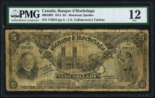 Canada Montreal, PQ- Banque d'Hochelaga $5 1.1.1914 Ch.# 360-22-02 PMG Fine 12. An annotation is noted.  HID09801242017
