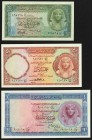 Egypt National Bank of Egypt 25; 50 Piastres; 1 Pound 1950s Pick 28; 29; 30 Choice Crisp Uncirculated.   HID09801242017