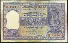 India Reserve Bank of India 100 Rupees ND Pick 44 Very Fine. As-issued staple holes at left.  HID09801242017