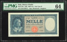 Italy Banca d'Italia 1000 Lire 1959 Pick 88c PMG Choice Uncirculated 64.   HID09801242017
