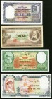 Japan Bank of Japan 100 Yen ND (1953) Pick 90b About Uncirculated; Nepal Government of Nepal 10 Mohru ND (1951) Pick 3 Crisp Uncirculated; Central Ban...