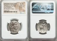 MACEDONIAN KINGDOM. Alexander III the Great (336-323 BC). AR tetradrachm (26mm, 16.77 gm, 1h). NGC Choice AU 5/5 - 3/5. Late lifetime or early posthum...
