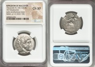 MACEDONIAN KINGDOM. Alexander III the Great (336-323 BC). AR tetradrachm (26mm, 6h). NGC Choice XF. Early posthumous issue of Sidon, dated Civic Year ...