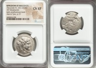 MACEDONIAN KINGDOM. Alexander III the Great (336-323 BC). AR tetradrachm (26mm, 7h). NGC Choice XF. Posthumous issue of Ake or Tyre, dated Regnal Year...