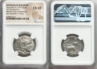 MACEDONIAN KINGDOM. Alexander III the Great (336-323 BC). AR tetradrachm (25mm, 1h). NGC Choice VF. Citium, Cyprus ca. 325-320 BC. Head of Heracles ri...