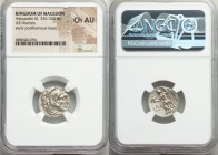 MACEDONIAN KINGDOM. Alexander III the Great (336-323 BC). AR drachm (18mm, 10h). NGC Choice AU. Posthumous issue of Ionia, Magnesia ad Maeandrum, 319-...