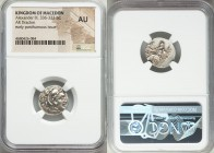 MACEDONIAN KINGDOM. Alexander III the Great (336-323 BC). AR drachm (17mm, 7h). NGC AU. Posthumous issue of Lampsacus, ca. 320-305 BC. Head of Heracle...
