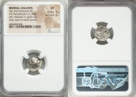 MOESIA. Callatis. Ca. 3rd-2nd centuries BC. AR hemidrachm (15mm, 2.34 gm, 4h). NGC VF 4/5 - 3/5. Head of Heracles right, wearing lion skin headdress /...