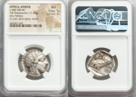 ATTICA. Athens. Ca. 440-404 BC. AR tetradrachm (24mm, 17.20 gm, 2h). NGC AU 5/5 - 4/5. Mid-mass coinage issue. Head of Athena right, wearing crested A...