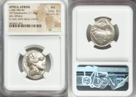 ATTICA. Athens. Ca. 440-404 BC. AR tetradrachm (23mm, 17.18 gm, 8h). NGC AU 4/5 - 4/5. Mid-mass coinage issue. Head of Athena right, wearing crested A...