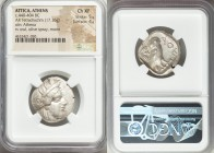 ATTICA. Athens. Ca. 440-404 BC. AR tetradrachm (25mm, 17.16 gm, 5h). NGC Choice XF 5/5 - 4/5. Mid-mass coinage issue. Head of Athena right, wearing cr...