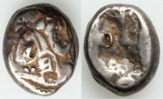 ACHAEMENID PERSIA. Time of Xerxes II-Artaxerxes II (ca. 420-375 BC). AR siglos (15mm, 5.21 gm). Fine, countermark. Ca. 400-340 BC. Persian Great King ...