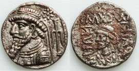 ELYMAIS KINGDOM. Kamnaskires III (ca. 83/2-74/63 BC). AR tetradrachm (29mm, 14.90 gm, 12h). XF. Diademed, draped bust of Kamnaskires left; star above,...