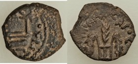 JUDAEA. Roman Procurators. Pontius Pilate (AD 26-36). AE prutah (15mm, 2.07 gm, 11h). VF. Jerusalem, dated Regnal Year 16 of Tiberius (AD 29/30). TIBE...