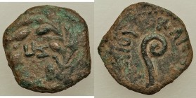 JUDAEA. Roman Procurators. Pontius Pilate (AD 26-36). AE prutah (14mm, 1.68 gm, 11h). VF. Jerusalem, dated Regnal Year 17 of Tiberius (AD 30/1). L IZ ...