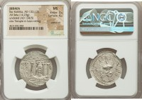 JUDAEA. Bar Kokhba Revolt (AD 132-135). AR sela (29mm, 14.23 gm, 11h). NGC MS 2/5 - 4/5, overstruck. Undated, attributed to year 3 (AD 134/5). Simon (...