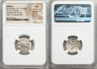 JUDAEA. Bar Kokhba Revolt (AD 132-135). AR zuz (18mm, 3.03 gm, 2h). NGC MS 5/5 - 3/5. Undated issue of Year 3 (AD 134/5). Simon (Paleo-Hebrew), name w...