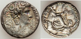 SYRIA. Antioch. Augustus (27 BC-AD 14). AR tetradrachm (25mm, 14.59 gm, 12h). VF. Dated year 28 of the Actian Era and Cos. XII (4/3 BC). KAIΣAΡOΣ ΣE-B...