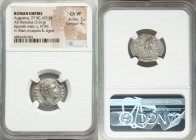 Augustus (27 BC-AD 14). AR denarius (21mm, 3.61 gm, 6h). NGC Choice VF 3/5 - 4/5. Spanish mint, perhaps Emerita, 19/18 BC. CAESAR-AVGVSTVS, bare head ...