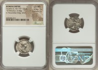 Faustina Junior (AD 147-175/6). AR denarius (20mm, 3.50 gm, 7h). NGC Choice MS 5/5 - 5/5. Rome, AD 161-164. FAVSTINA-AVGVSTA, draped bust of Faustina ...