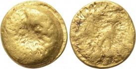 "CENTRAL EUROPE. Boii. GOLD 1/24 Stater (2nd century BC). ""Athena Alkis"" type. 