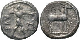 BRUTTIUM. Kaulonia. 1/3 Nomos - Drachm (Circa 475-425 BC). 