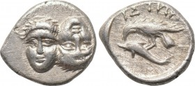 MOESIA. Istros. 1/4 Drachm (4th century BC). 