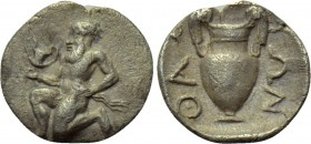THRACE. Thasos. Trihemiobol (Circa 412-404 BC).. 