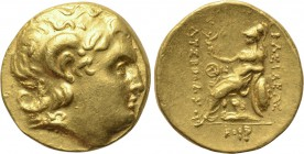 KINGS OF THRACE. Lysimachos (305-281 BC). GOLD Stater. Odessos. 