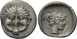 MACEDON. Neapolis. Hemidrachm (Late 5th-early 4th centuries BC). 