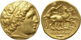 KINGS OF MACEDON. Philip II (359-336 BC). GOLD Stater. Teos. 