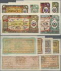 Albania: Set with 6 Banknotes 1953 issue of the Foreign Exchange Certificates with 1, 5, 10, 50, 100 and 500 Leke, P.FX4-FX9 in UNC condition. (6 pcs....