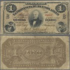 Argentina: La Provincia de Buenos Aires 1 Peso L.1871, P.S524b, small border tears, toned paper and several folds. Condition: F