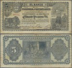 Argentina: El Banco de La Provincia de Buenos Aires 5 Pesos 1891, P.S575a, lightly toned paper and some folds. Condition: F+