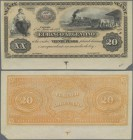 Argentina: El Banco Argentino, Cordoba issue, 20 Pesos 1873 unissued remainder, P.S1482r, highly rare note in excellent condition, just a small missin...
