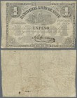 Argentina: Banco Rosario de Santa Fe 1 Peso 1869, P.S1854a, still nice note in original shape with several folds and stained paper. Condition: F- to F...