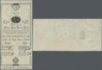 Austria: Wiener Stadt-Banco Zettel 5 Gulden 1800, P.A31 in perfect UNC condition. Rare!