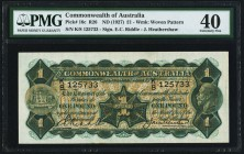 Australia Commonwealth Bank of Australia 1 Pound ND (1927) Pick 16c R26 PMG Extremely Fine 40.   HID09801242017
