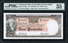 Australia Commonwealth of Australia Reserve Bank 10 Pounds ND (1960-65) Pick 36 R63 PMG Choice Very Fine 35.   HID09801242017