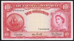 Bahamas Bahamas Government 10 Shillings L. 1936 (1953) Pick 14b Very Fine+.   HID09801242017