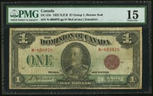 Canada Dominion of Canada $1 1923 DC-25e PMG Choice Fine 15.   HID09801242017
