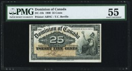 Canada Dominion of Canada .25 Cents 2.1.1900 DC-15b PMG About Uncirculated 55. Minor foreign substance.  HID09801242017